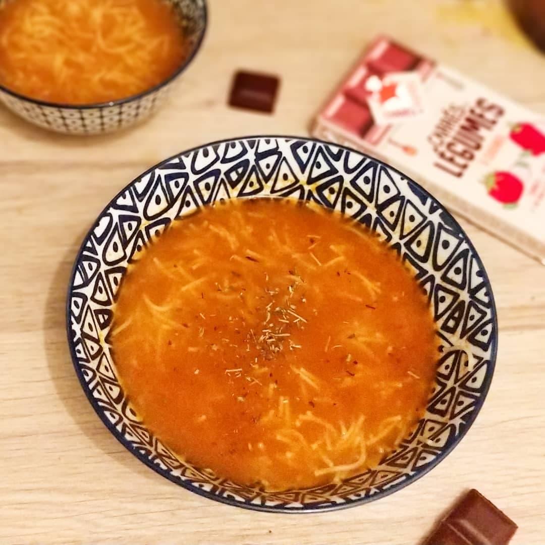 bouillon tomate carres futes recette