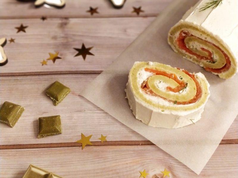 Roulé au saumon fromage frais et poireau recette