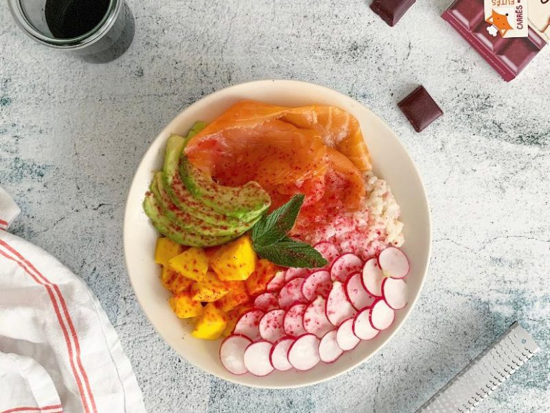 salade healthy poke bowl recette