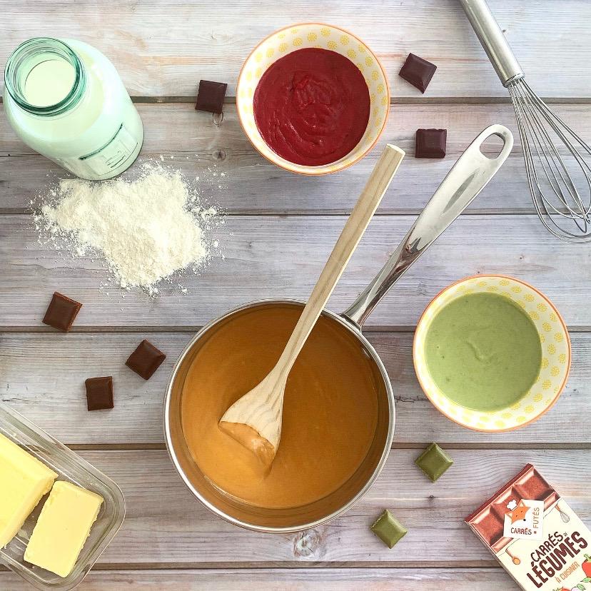 sauce bechamel legumes carres futes recette