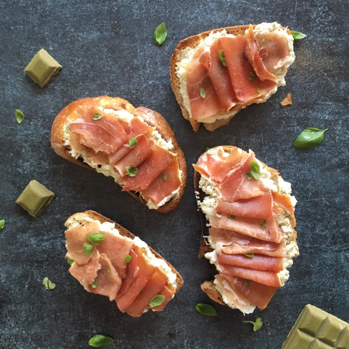Bruschettas jambon chèvre frais recette
