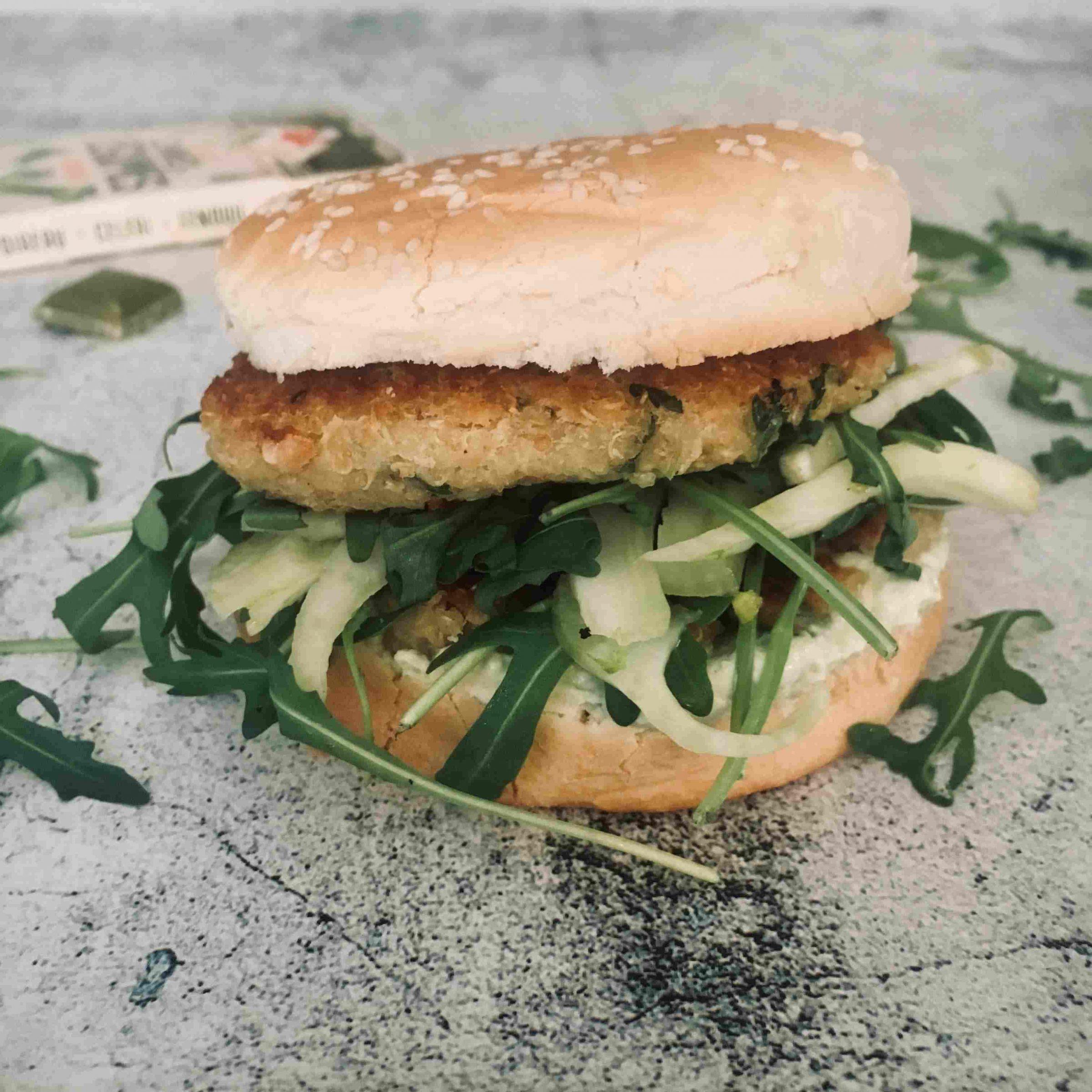 Burger veggie poireau quinoa recette