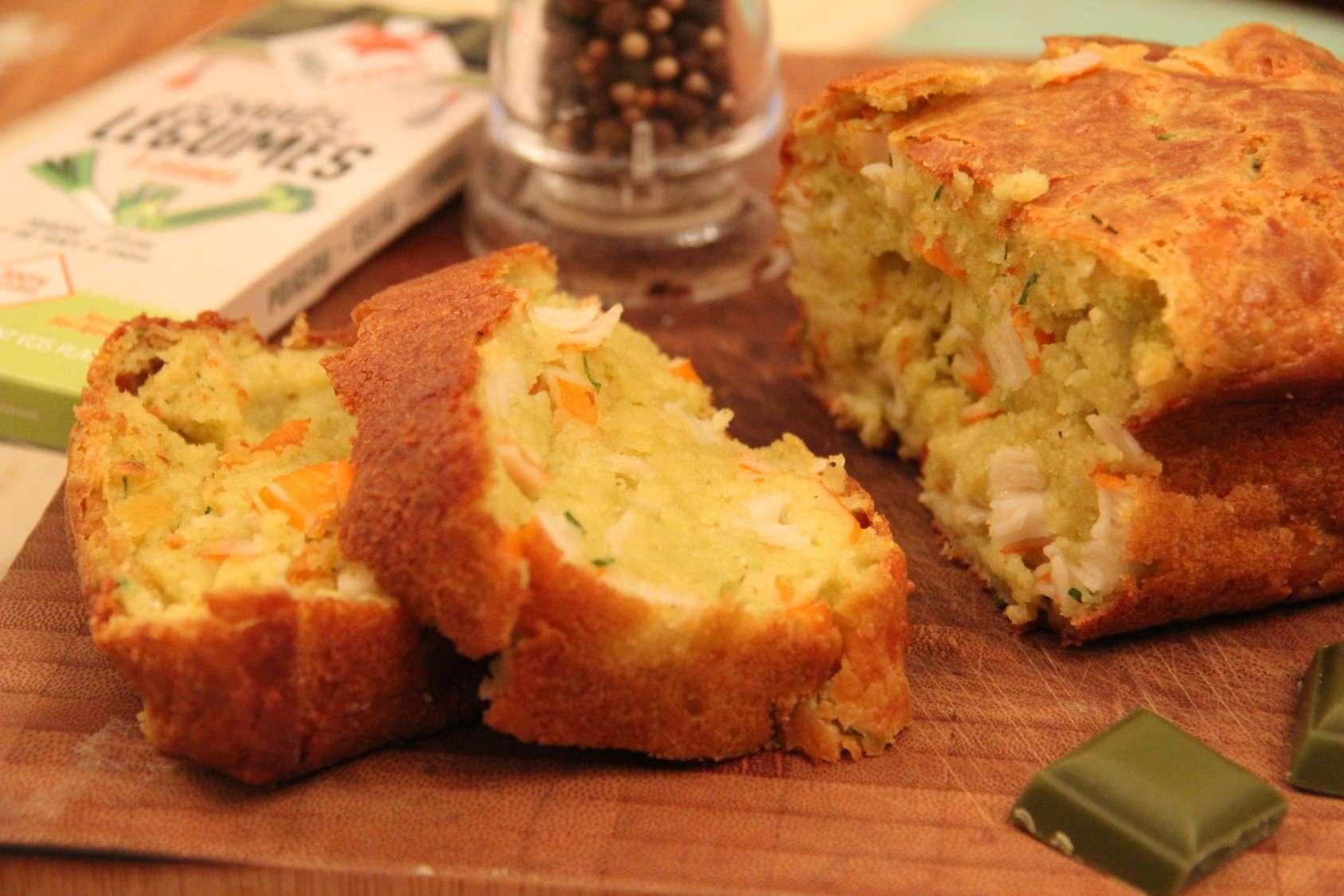 Cake au crabe et poireau recette