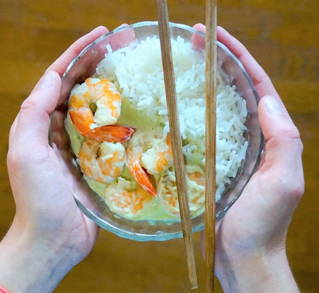 Crevettes sauce poireau recette