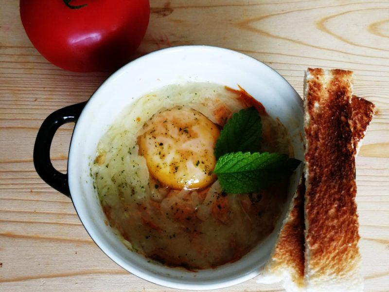 Oeuf cocote à la tomate recette