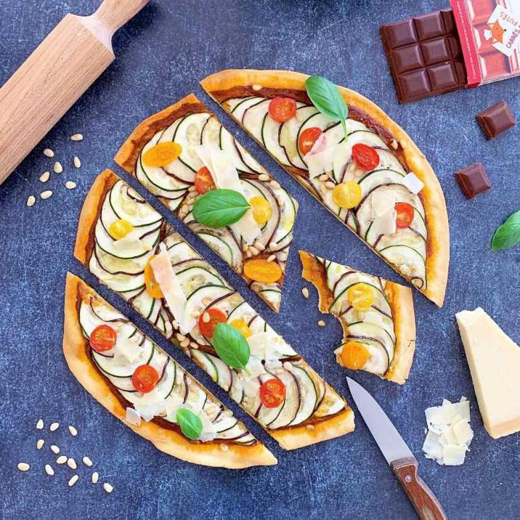 Pizza légumes recette
