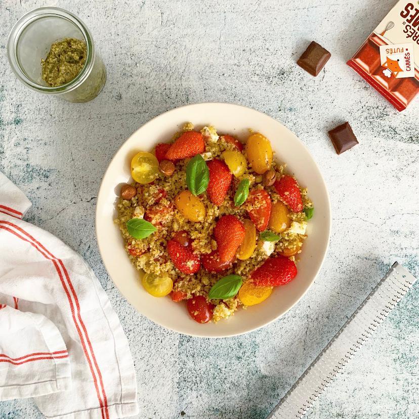 Salade tomates fraises recette