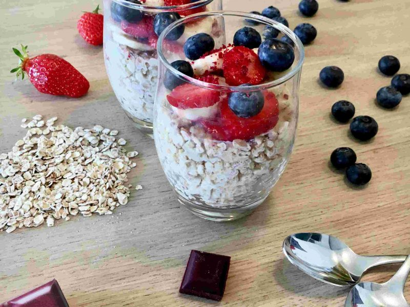 Porridge betterave fruits rouges recette