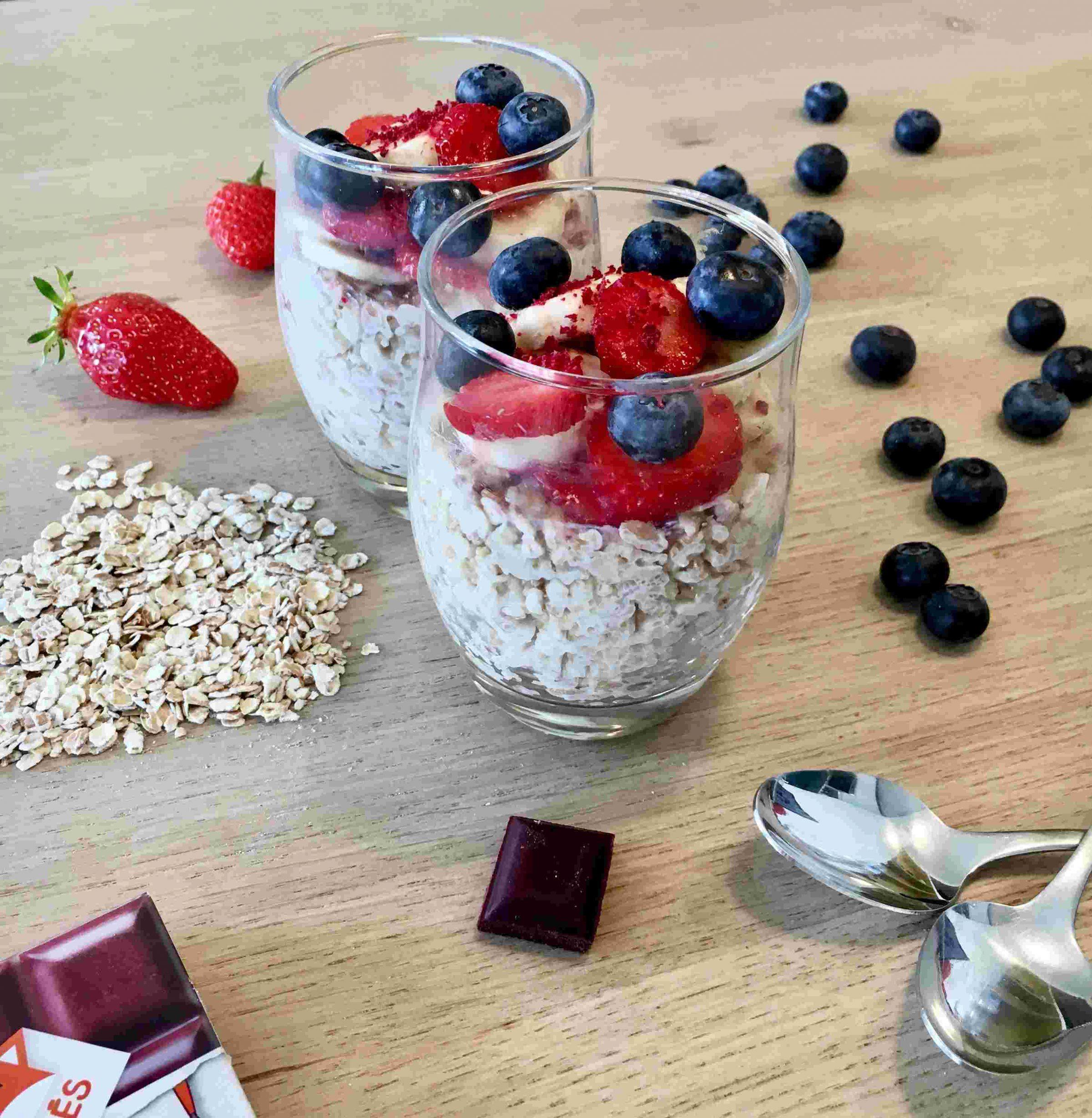 Porridge betterave fruits rouges recette