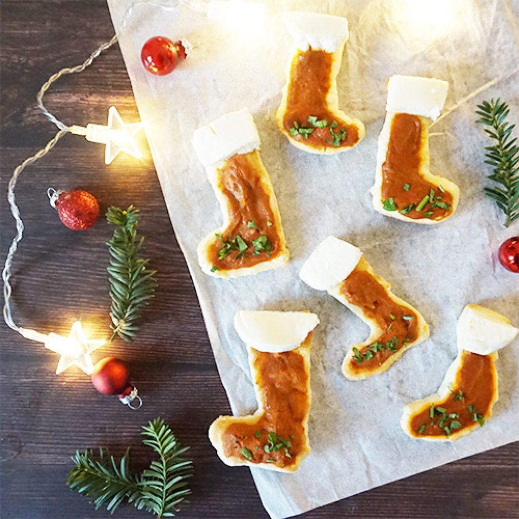Mini pizzas bottes de Noël recette