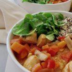 Poulet aux légumes et beurre de cacahuètes recette