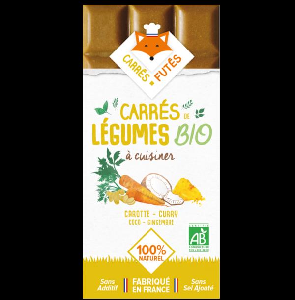 Tablette Carrés Futés Bio Carotte Curry Coco Gingembre