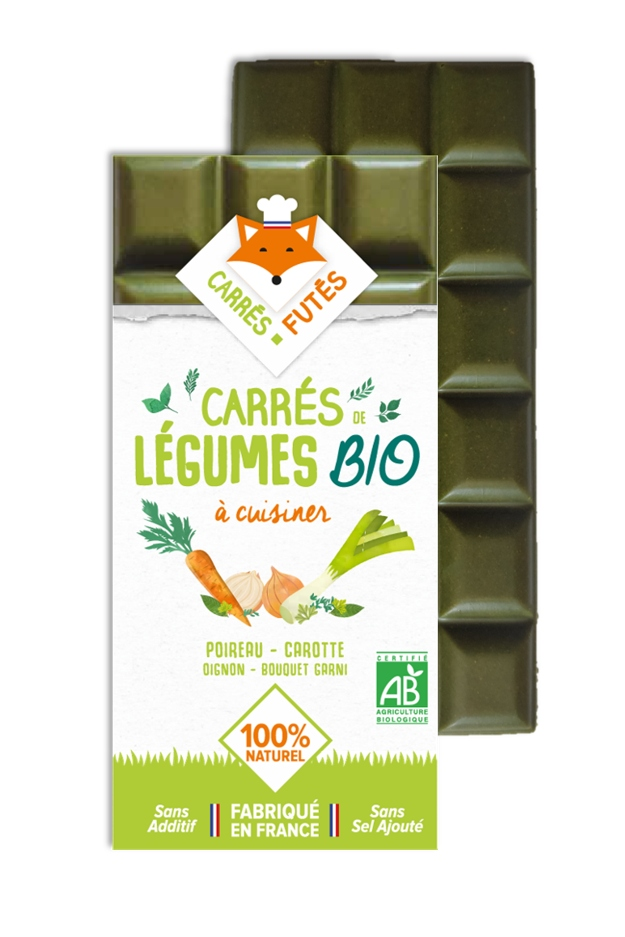 Tablette Carrés Futés Bio Poireau Carotte Oignon et Bouquet garni