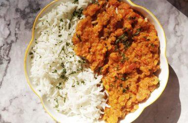 Dahl de lentilles curry recette