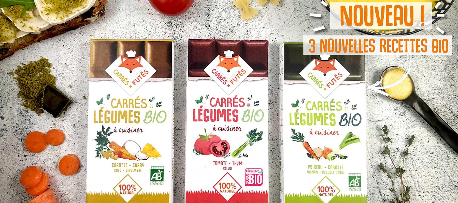 Tablettes Bio Carrés Futés