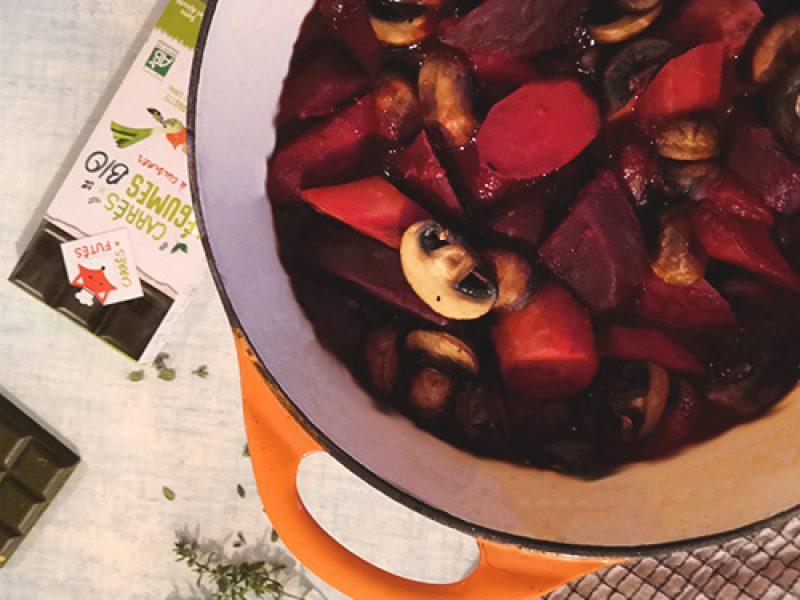 Bourguignon betterave carotte recette