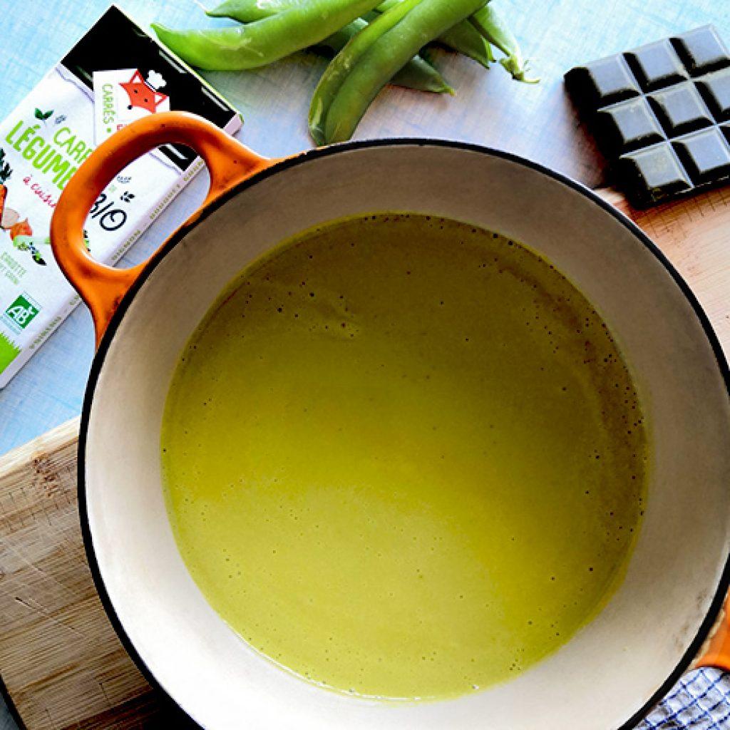 Soupe de coces de pois recette
