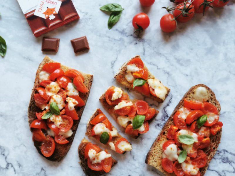 Bruschettas tomate mozarella recette
