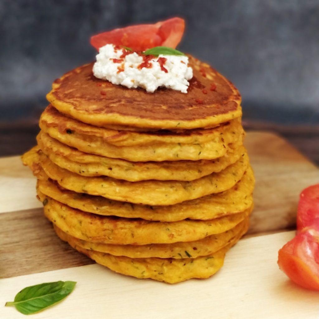 Pancakes ricotta courgettes recette