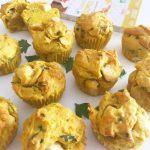 Muffins salés poulet curry coco recette