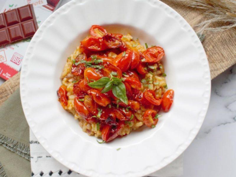 Risotto aux tomates cerises et basilic recette