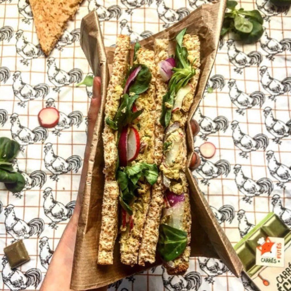 Sandwich radis fromage frais poireau recette