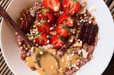 porridge-fraise-framboise-carrés-futés-recette