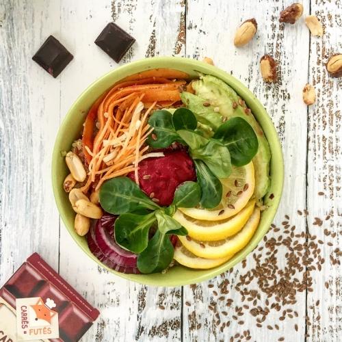 veggie bowl recette carres futes
