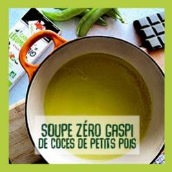 Soupe zéro gaspi de coces de petits pois recette